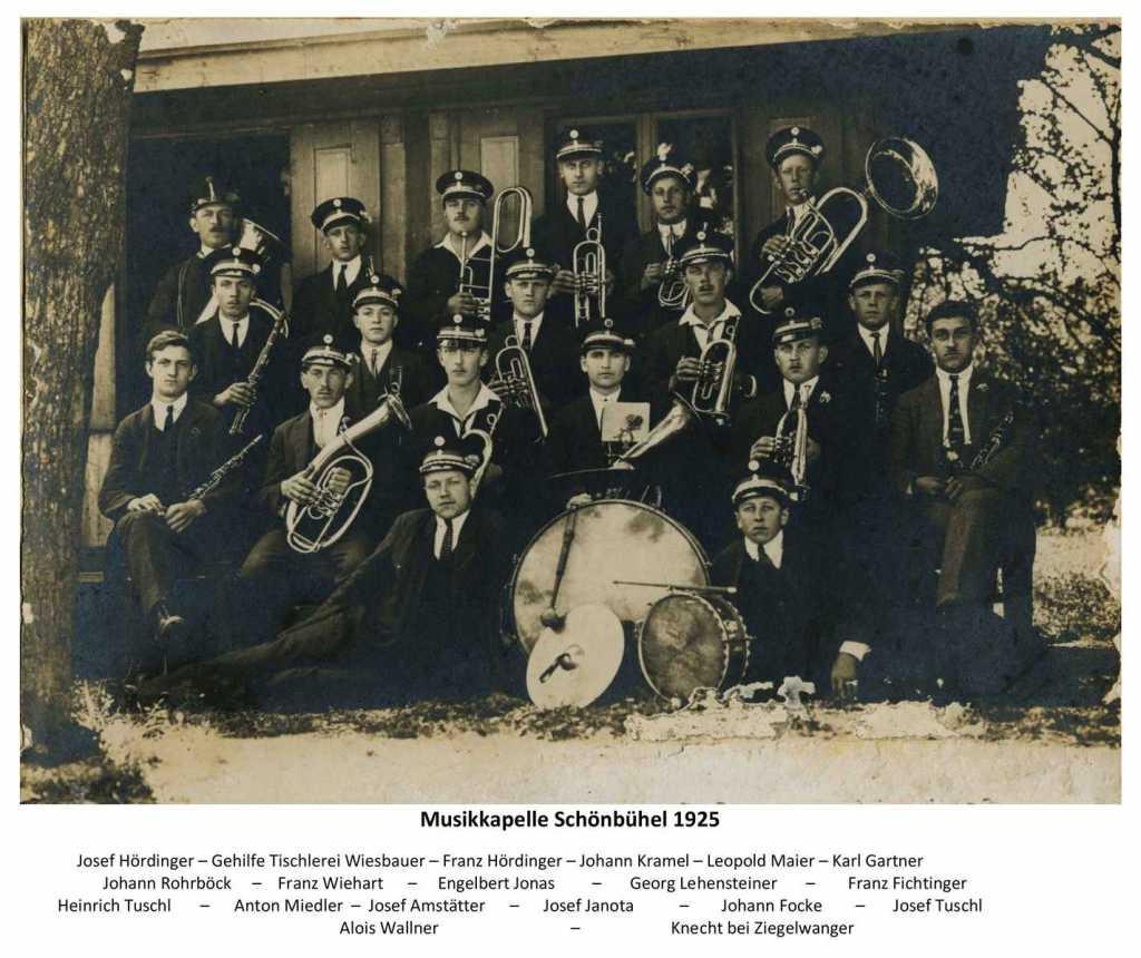 Musikkapelle Schönbühel 1925_01